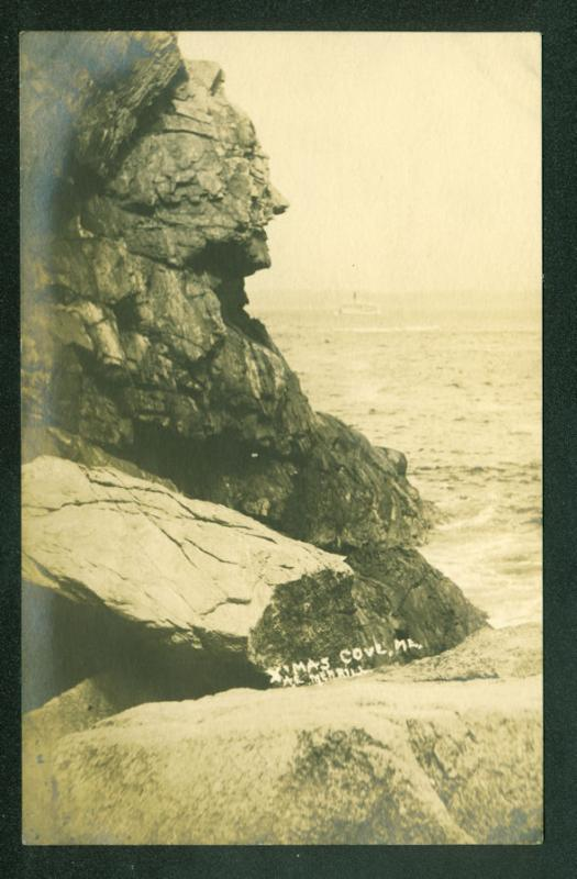 Rocky Cliff CHRISTMAS COVE MAINE Merrill Real Photo RPPC Postcard