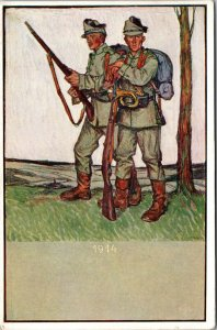 Germany 1914 - SOLDIER - Postcard Dresden - VINTAGE - UNPOSTED