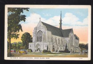 GRAND ISLAND NEBRASKA ST. MARY'S CATHEDRAL CHURCH ANTIQUE VINTAGE POSTCARD