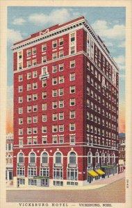 Mississippi Vicksburg Vicksburg Hotel 1948 Curteich
