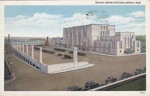 Nebraska Omaha Union Railroad Station 1935 Curteich