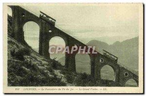 Old Postcard Lourdes Funicular Peak Jar Grand Viaduct