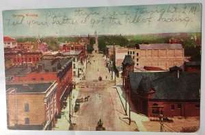 Cheyenne Wyoming Street View Postcard 1906 Ariel Horse Buggy