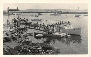 LP42   Newagen  Inn  Maine Argo Boat Trip    RPPC Postcard
