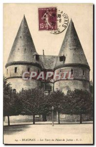 Postcard Old Chateau Beauvais Tours of Courthouse