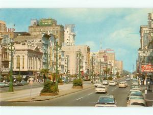 New Orleans Louisiana Canal Street Stevens Monteleon Hotel Roose Postcard # 7555