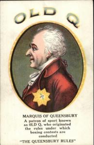 Marquis of Queensbury - Borgwardt-Stilb Cigar Co Old Q Havana Cubans Adv
