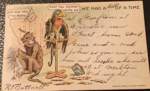 Vintage 1906 Outcault greeting postcard with stamp