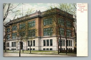 Grammar School Building South Bend Indiana Postcard