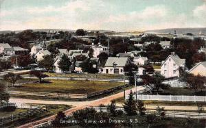 General View of Digby, Nova Scotia, Canada, Early Postcard, Unused