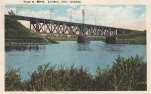 Thames River Bridge - London, Ontario, Canada - pm 1930 - WB