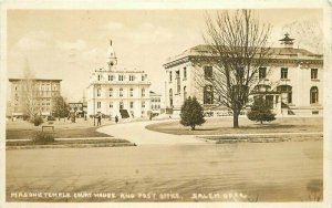 Court House Salem Oregon Post Office Fraternal Masonic Temple RPPC Postcard 4695