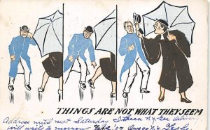 Things are not what they seem Gay Related 1909 writing on front