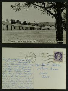 Campers Cabins Blue mountain RPPC 1961 Collingwood