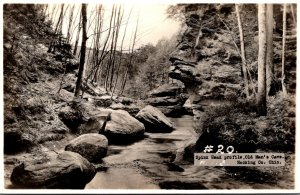 Ohio Hocking County Old Man's Cave Spinx Head Profile Real Photo