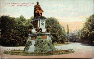 Postcard PA Pennsylvania Philadelphia Lincoln Monument Fairmount Park Unposted