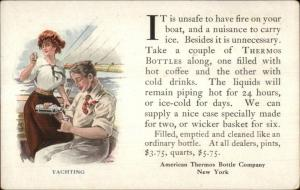 American Thermos Bottle Co New York c1910 Postcard YACHTING