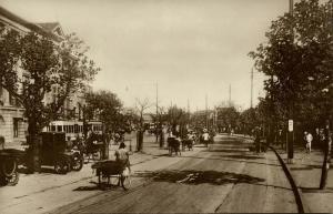 china, SHANGHAI, The Bund, Car, Rickshaw, Tram (1920s) Lai Chong RPPC Postcard