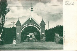 Massachusetts Brockton Highland Park Entrance