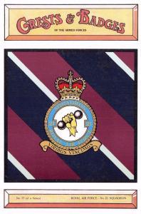 Postcard RAF Royal Air Force No.21 Squadron Crest Badge No.37 NEW