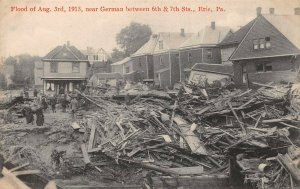 LPS31 Erie Pennsylvania 1915 Flood near German St. between 6th and 7th Streets