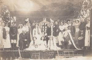 Bridport Devon Play Nurse Knight Military Theatre Antique Real Photo Postcard