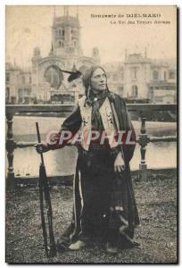 Old Postcard Wild West Cowboy Indian Djelmako The king of Indian shooters AIR