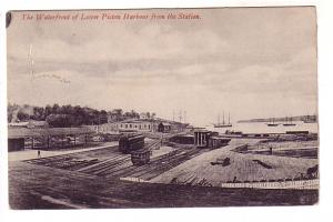 Waterfront of Lower Pictou Harbour, Train and Tracks, Nova Scotia