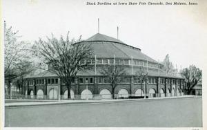 IA - Des Moines.  Iowa State Fairgrounds, Stock Pavilion