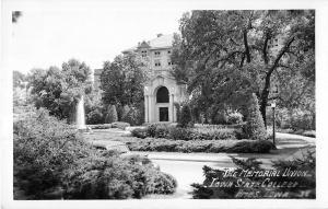 Ames Iowa Iowa State College The Memorial Union Real Photo Postcard V16078