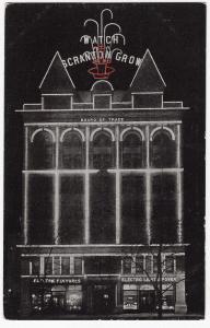 1907 Watch Scranton PA Grow Electric Early Light Power Advertising RARE Postcard