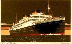 Cunard White Star Line - Britannic - Artist: James S. Mann  ***PAQUEBOT