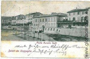 03368 CARTOLINA d'Epoca:  ANCONA: SINIGALIA SENIGALIA 1898