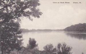 Illinois Dixon View On Rock River Albertype