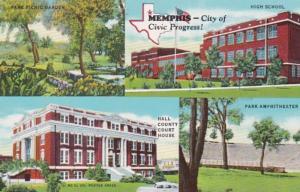 Tennessee Memphis Park Picnic Garden & Amphitheatre High School Hall Vounty C...