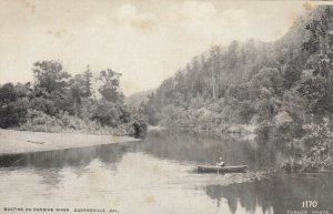 GUERNEVILLE, California, 1900-10s; Boating on Rusian River