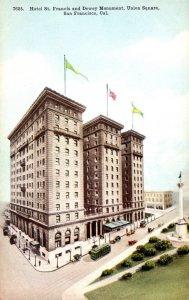 California San Francisco Union Square Hotel St Francis and Dewey Monument
