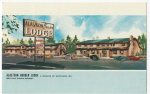 Canada; Yukon, Alas/Kon Border Lodge, Mile 1202 Alaska Hwy PPC, Unused, c 1950's