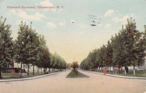 Parkwood Boulevard - Schenectady NY, New York - pm 1915 - DB