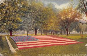 Detroit Michigan~Water Works Park-Floral Flag Flower Garden~1910 Postcard