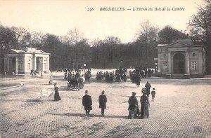 L'entr»e du bois de la Cambre Bruxelles Belgium Unused