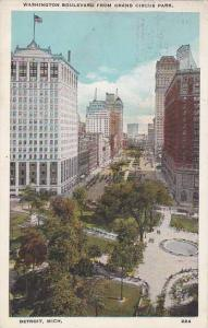 Michigan Detroit Washington Boulevard From Grand Circus Park 1929