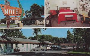 3-views,  Rivard Motel,  Ancienne Lorette,  Quebec,  Canada,  40-60s
