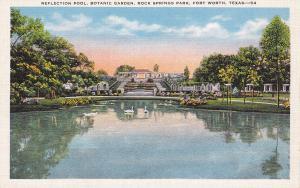 FORT WORTH, Texas, 1930-1940's; Reflection Pool, Botanic Garden, Rock Springs Pa