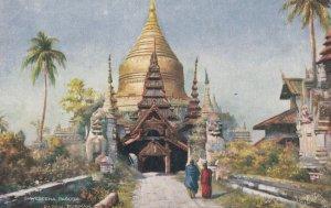 Shwegeena Pagoda , Pagan , Burmah , 00-10s ; TUCK