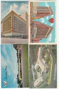 Lot of 4 hotel motel vintage postcards antique