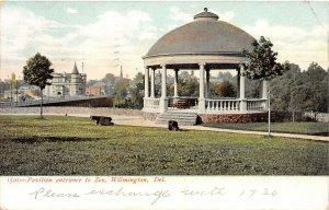 H76/ Wilmington Delaware Postcard c1910 Pavilion Entrance to Zoo  105