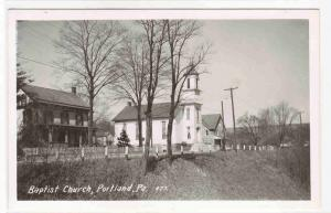Baptist Church Portland Pennsylvania RPPC real photo postcard