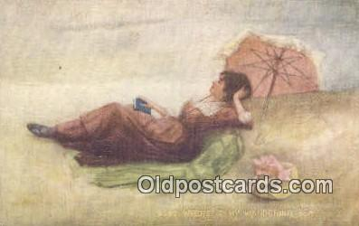 Artist Signed Postcard Post Cards Old Vintage Antique  Artist Unknown Postcar...