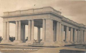 F29/ Denver Colorado RPPC Postcard 1911 Cheesman Memorial